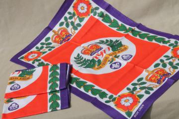 Vintage Irish linen tea towels, Queen's Silver Jubilee collectables, never used