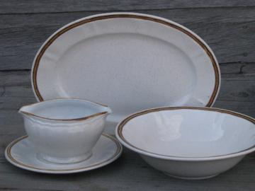 Vintage Japan stoneware serving pieces lot, Hearthside Berries N Cream