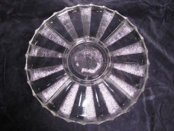 Vintage Jeanette dewdrop dew drop pattern glass divided relish tray, 1950s