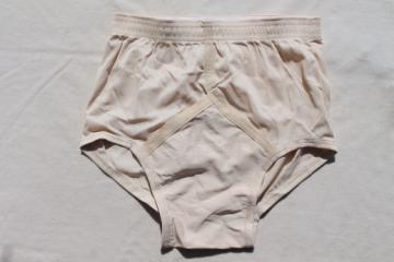 Vintage Jockey nude nylon tricot briefs size 30 undershorts, 80s new old stock underwear