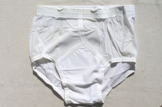 Vintage Jockey nylon tricot briefs size 32 undershorts, 80s new old stock underwear