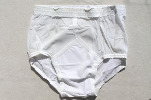 25782e011 Vintage Jockey nylon tricot briefs size 32 undershorts