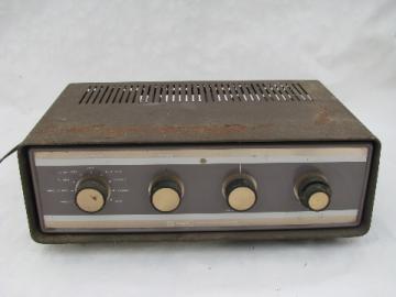 Vintage Knight model KA-25 vacuum tube stereo amplifier, KnightKit