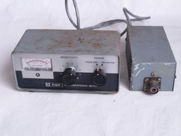 Vintage Knight P2 SWR power meter for shortwave ham radios