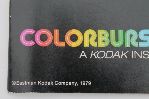 Vintage Kodak camera, 70s 80s Kodak Colorburst 250 w/ instruction manual