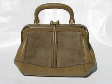 Vintage leather purse, mini satchel handbag, Taro of Madrid