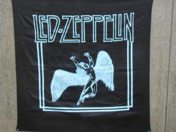 Vintage Led Zepplin screen print fabric poster wall hanging, Swan Song