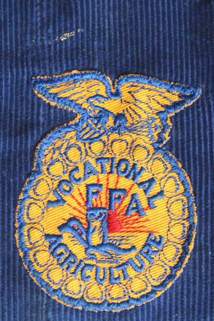 Vintage Letter Jacket 50s 60s Ffa Future Farmers Of