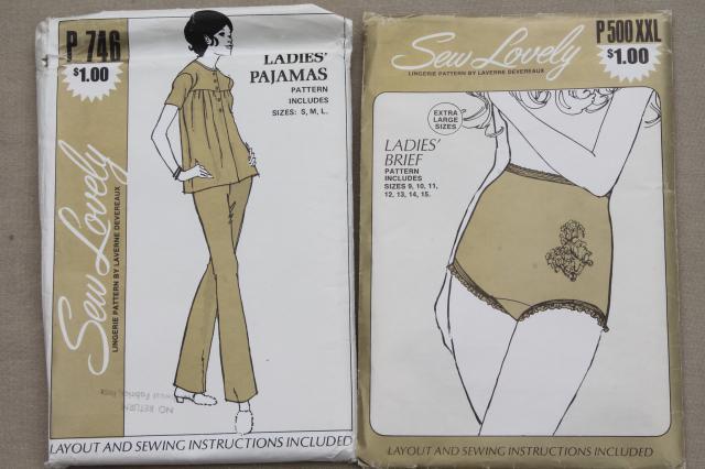 Vintage Lingerie Sewing Patterns Slips Bras Panties Negligees