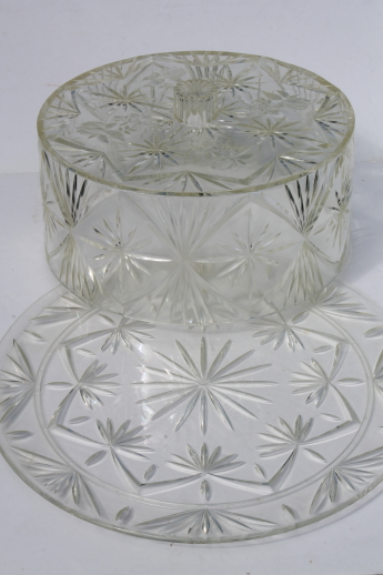 lucite clear plastic cake keeper, cake saver cover & cake plate