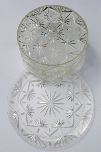 Vintage lucite clear plastic cake keeper, cake saver cover & cake plate