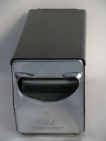 Vintage lunch counter paper napkin holder / dispenser, mid-century mod