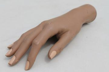 Vintage mannequin hand, female hand model for rings & jewelry, or nail polish