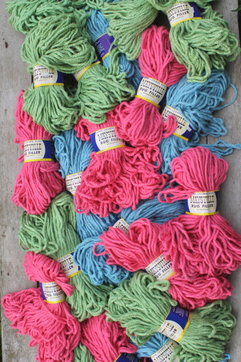 Vintage Maysville cotton/rayon heavy rug yarn - super bulky yarn for chunky knits & crafts
