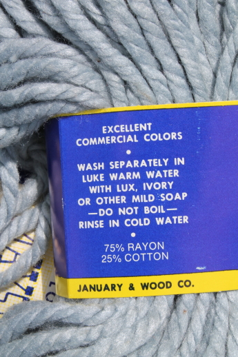 Vintage Maysville cotton/rayon heavy rug yarn - super bulky yarn for crafts, package ties