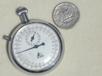 Vintage mechanical stop watch, swiss made PIC wind-up stopwatch