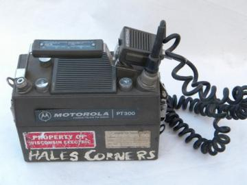 Vintage Motorola PT-300 two-way Handie-Talkie radio transceiver parts unit