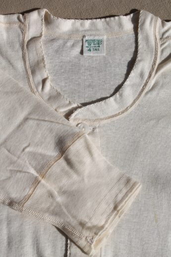 Vintage Munsingwear Natural Cotton Union Suits Unworn