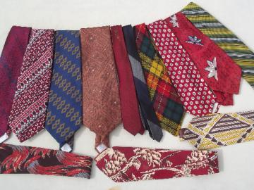 Vintage neckties 40s 50s 60s 70s retro neck ties lot, skinny & wide ties