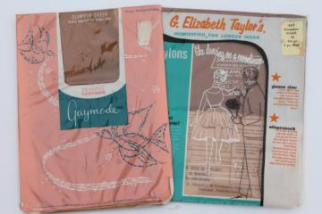Vintage nylon stockings lot, Gaymode & G Elizabeth Taylor humidified nylons