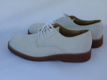 Vintage Orvis leather white bucks men's size 12 shoes, never worn