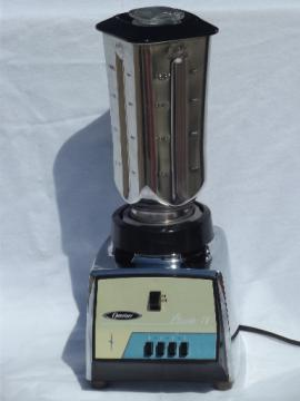 Vintage Oster Classic IV 4 speed Osterizer bar blender, stainless jar