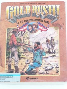 Vintage PC video game Sierra Gold Rush! w/ original box, manual etc