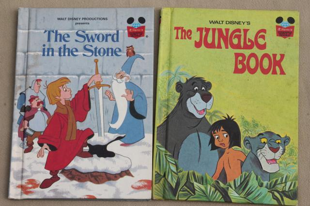 vintage picture books lot, Walt Disney Presents Disney classic movie stories