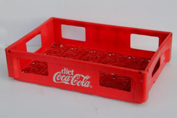 Vintage plastic Coca-Cola bottle carrier crate, Diet Coke store display rack