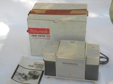 Vintage Poloaroid model 230 photo print copier for land cameras unsued