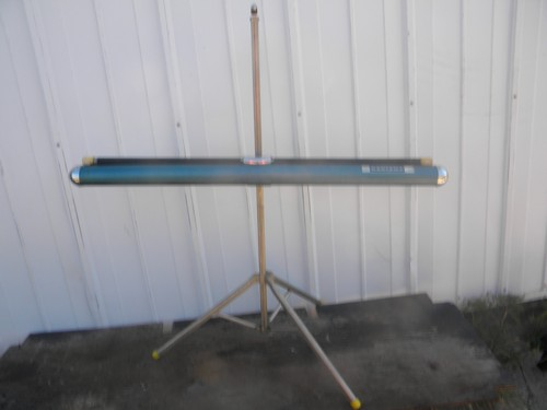 Vintage Radiant slide or movie projector screen w/tripod 30'' x 40''