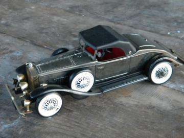 Vintage Rolls Royce roadster auto transistor radio, retro Hong Kong