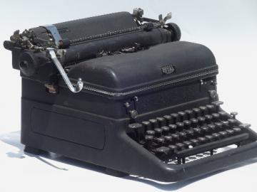 Vintage Royal typewriter, old manual typewriter with glass keys