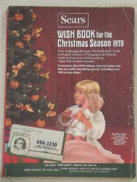 Vintage Sears Christmas Wish Book catalog, Christmas 1970 toys etc.
