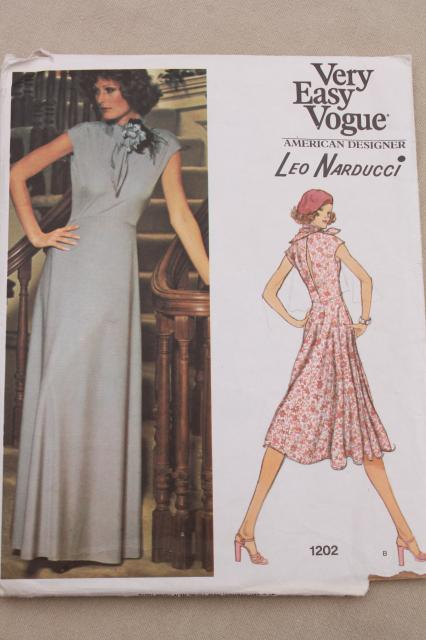 vintage sewing pattern lot, 70s 80s Vogue patterns American Designer, Couturier Paris Original