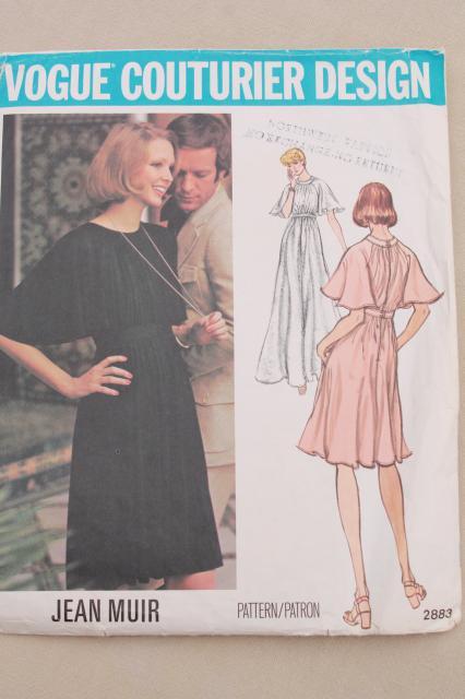vintage sewing pattern lot, 70s 80s Vogue patterns American Designer ...