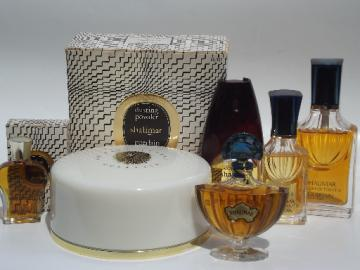 Vintage Shalimar fragrance lot, perfume bottles, dusting powder etc.