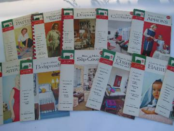 Vintage Singer sewing machine instruction booklets, How to Sew