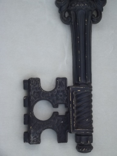 Key Wall Art skeleton key plaque, gothic steampunk wall art, dart plastic key