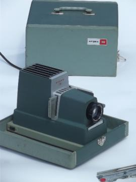 Vintage slide projector, retro Argus 300 35mm photo slide projector