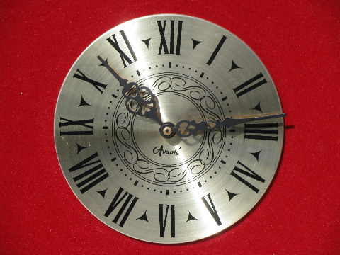 Vintage Steampunk Wall Clock Gothic Carved Wood Red