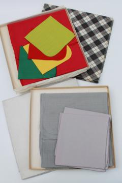 Vintage table linen, card table tablecloths & napkins, luncheon or bridge set linens