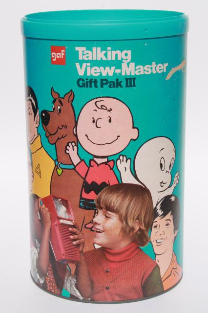 vintage talking viewmaster w/ reels, Pooh, Bambi, Snoopy reel sets