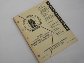Vintage Tecumseh Lauson Peerless 4 stroke cycle engine mechanic's handbook