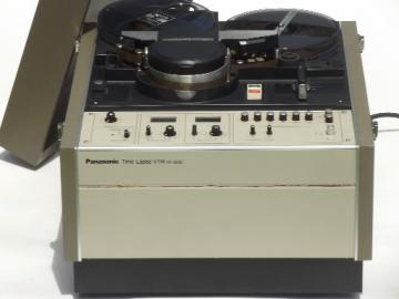 Vintage time lapse video recorder, 1970s reel to reel Panasonic VTR NV8030