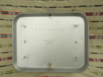 Vintage TraCo A&W Root Beer advertising car hop drive-in serving tray