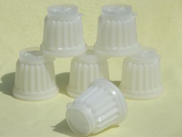 Vintage Tupperware jel-ettes, individual plastic jello molds set