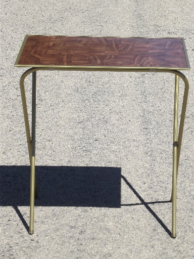 Vintage Tv Trays Table Set Mid Century Retro Folding Tray