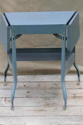 Attractive Vintage Typewriter Table, Industrial Metal Desk, Mid Century Typewriter  Stand Cart