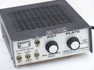Vintage vacuum tube radio frequency/RF base amplifier - Pal Ham Ten series, 201 BDX